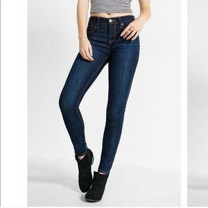 Dark Wash Mid Rise Skinny Jeans